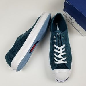New CONVERSE teal Jack Purcell sneakers